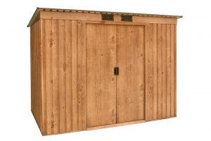 Pent Roof 8x4 Woodgrain
