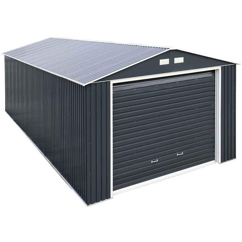 Imperial Metal  Garage Dark Gray w/White 12x20