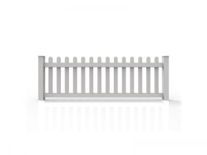 Traditional Straight Dog Ear Picket 3'H x 8'W