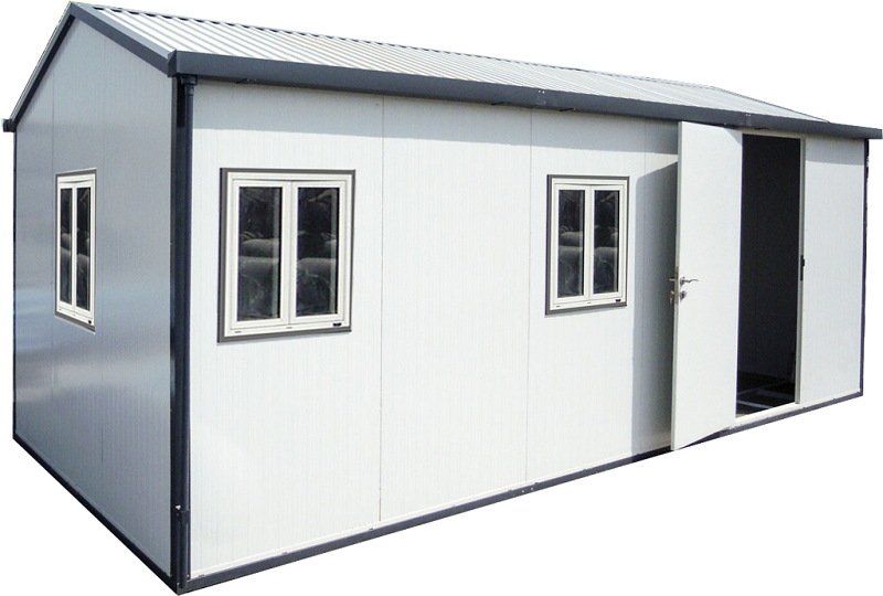 Gable Roof Insulated Building 22x10