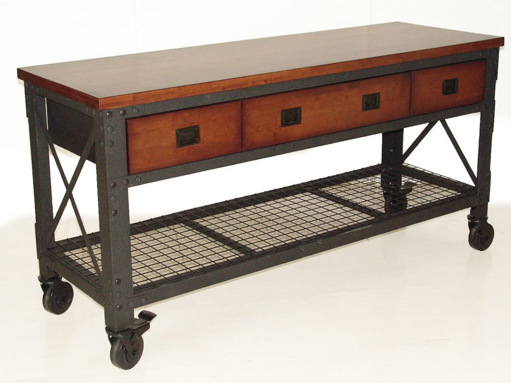 Rolling Workbench 72 in. x 24 in. with 3 drawers