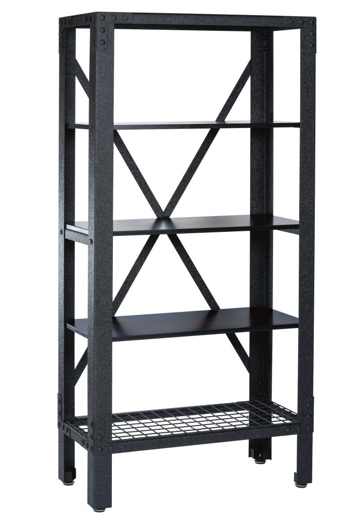 Industrial Metal and Wood Storage Shelving
