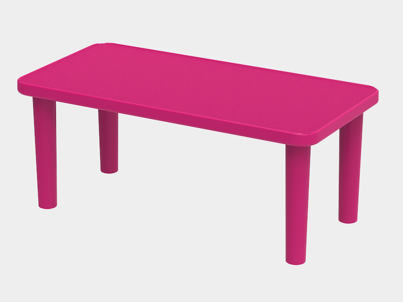 Kindergarden Table Rectangle